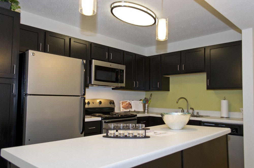 Updated kitchen at 300 at the Circle Apartments in Lexington, KY