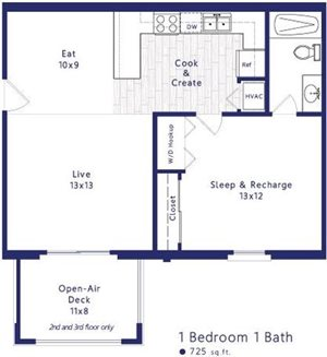 1 Bedroom Apartment 300 at the Circle