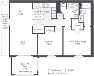 Spacious 2 Bedroom Apartment at 300 at the Circle