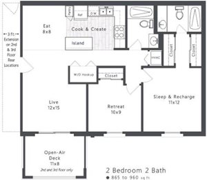 Spacious 2 Bedroom Apartment in Lexington