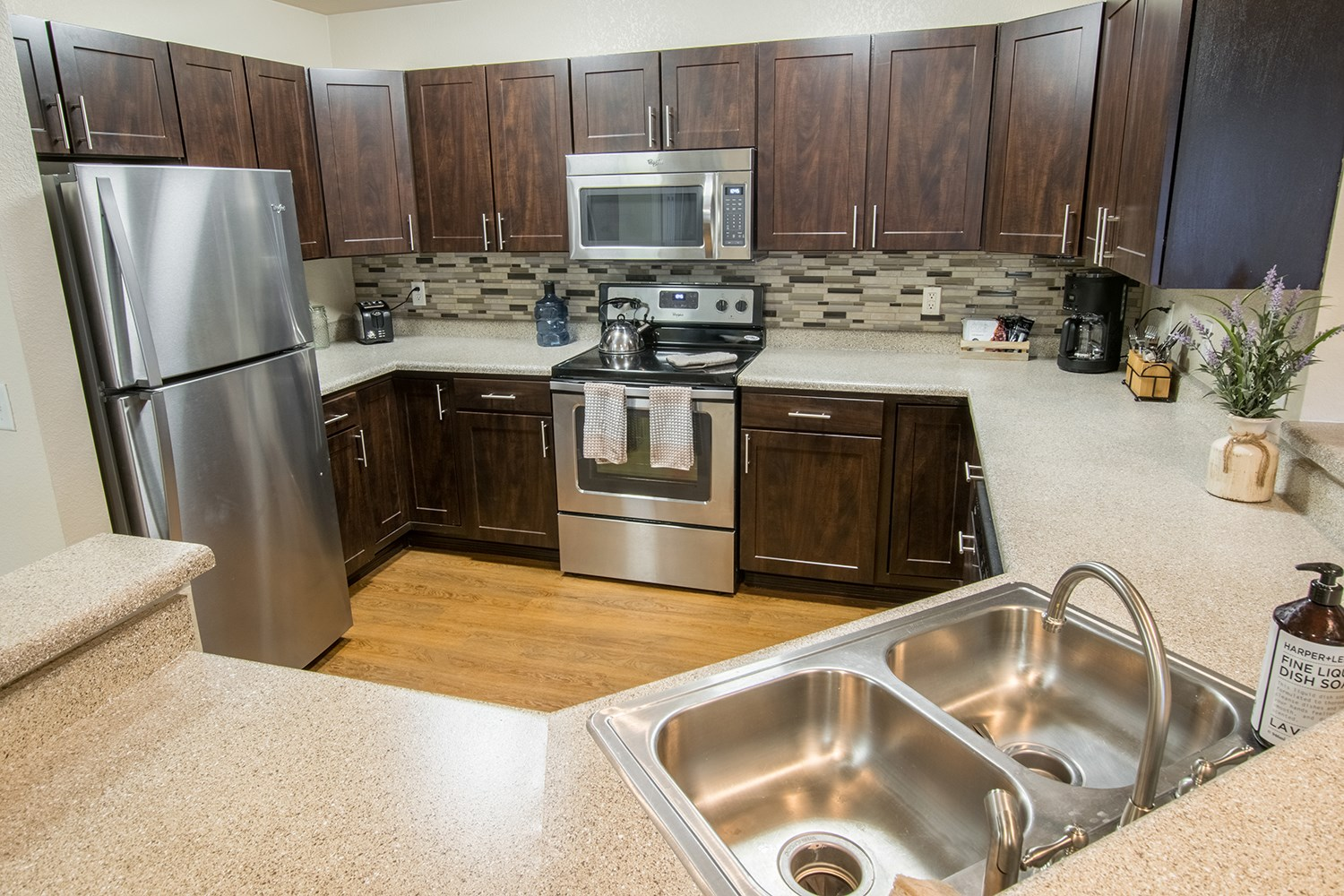 Upgraded Kitchen at The Preserve at the Meadows Apartments in Fort Collins, CO