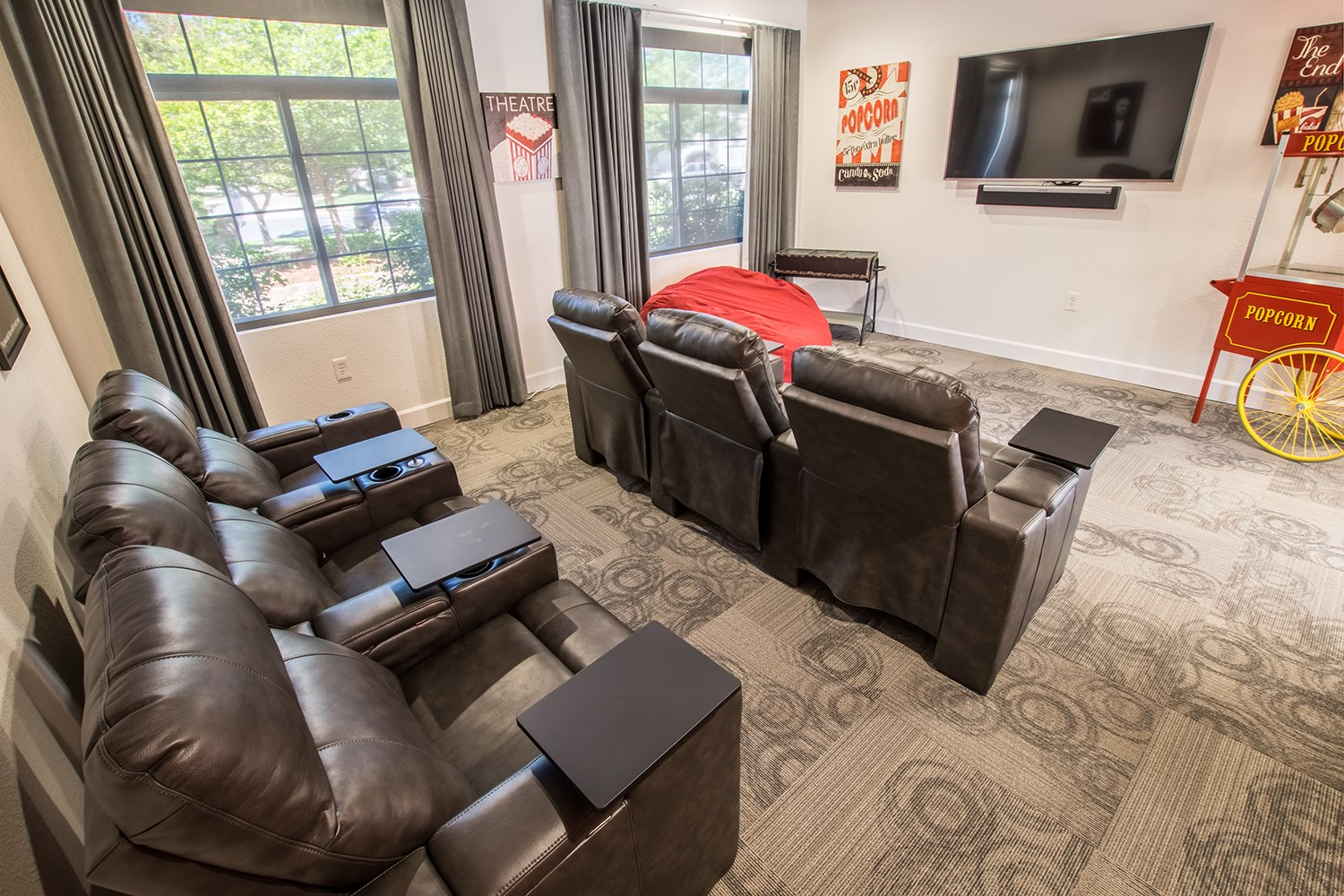 Theater Room at The Preserve at the Meadows Apartments in Fort Collins, CO