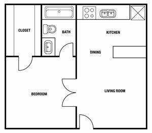 1 Bedroom | 1 Bath