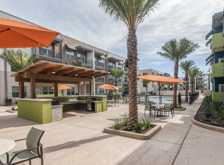 Enjoy outdoor grilling and fun by the pool