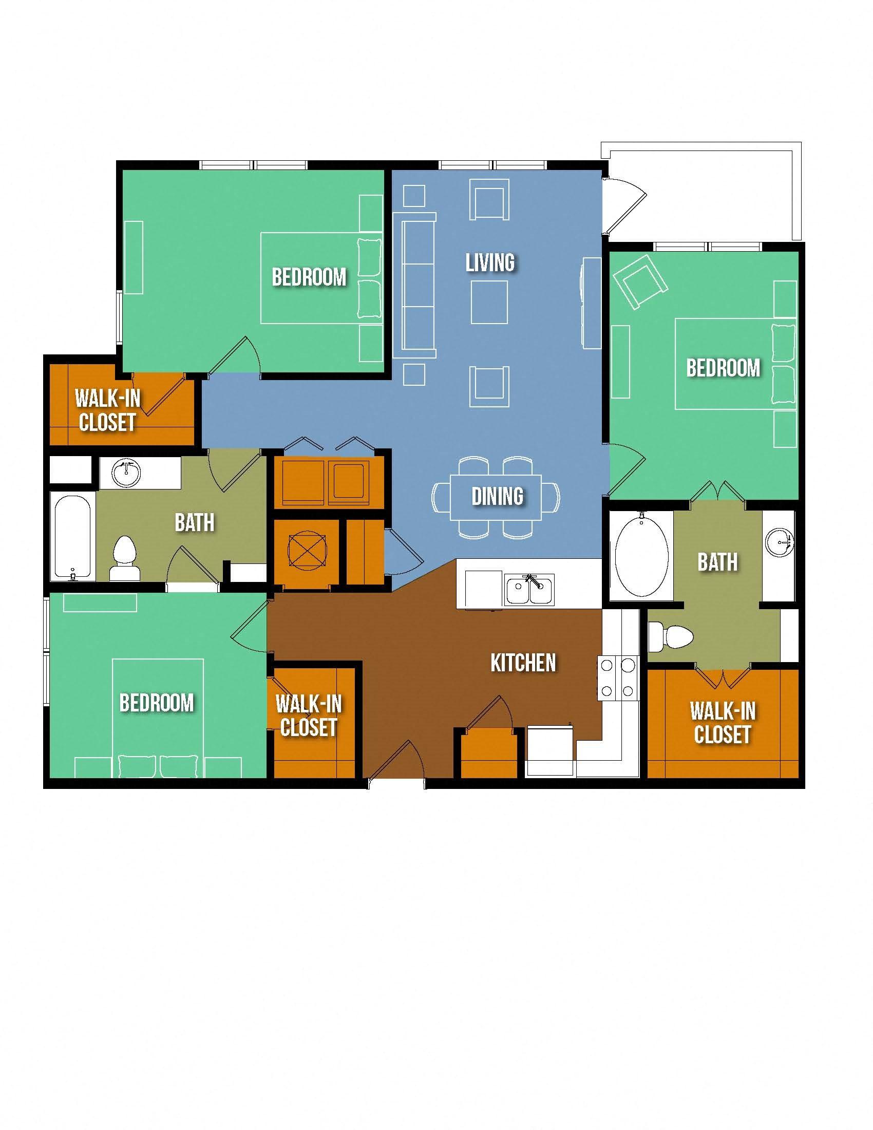 Exclusive 3 bedroom 3 bath Apartment Lake Jackson Texas