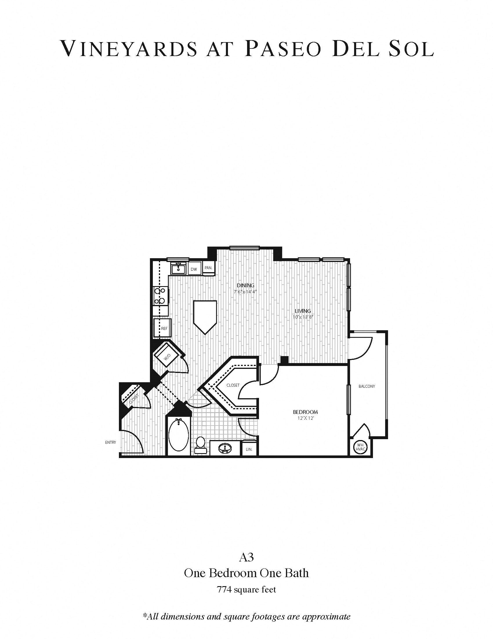 1b/1b Larger Floor Plan 3