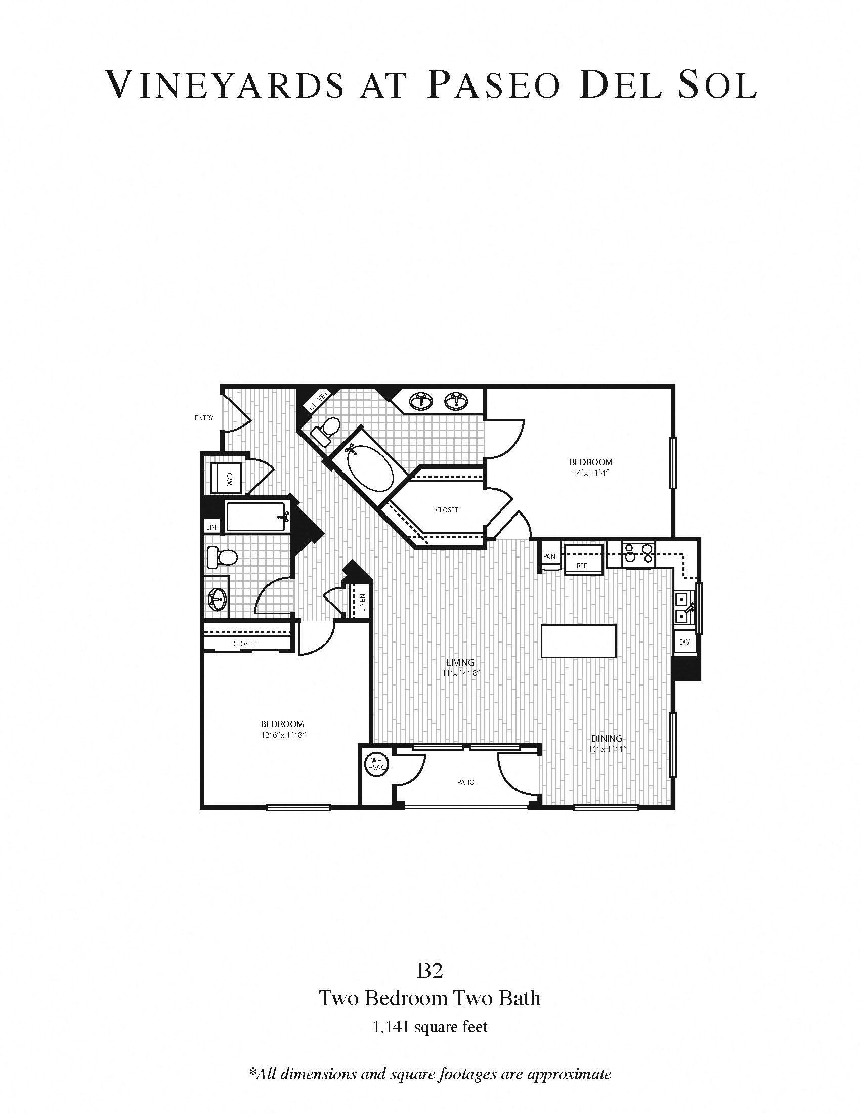2b/2b - Large Floor Plan 5