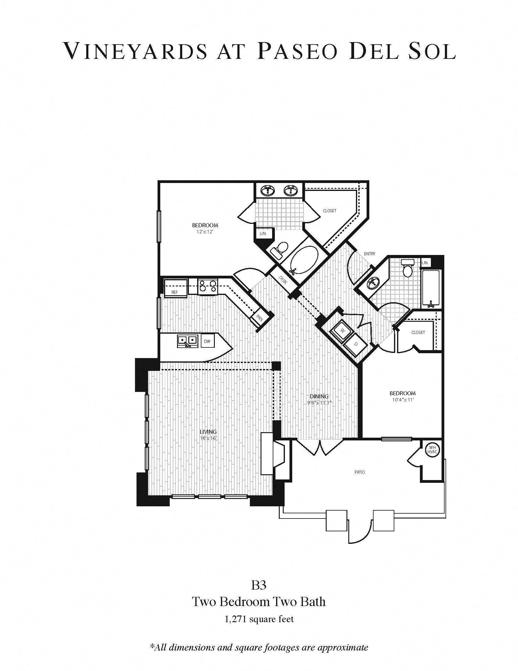 2b/2b Larger Floor Plan 6