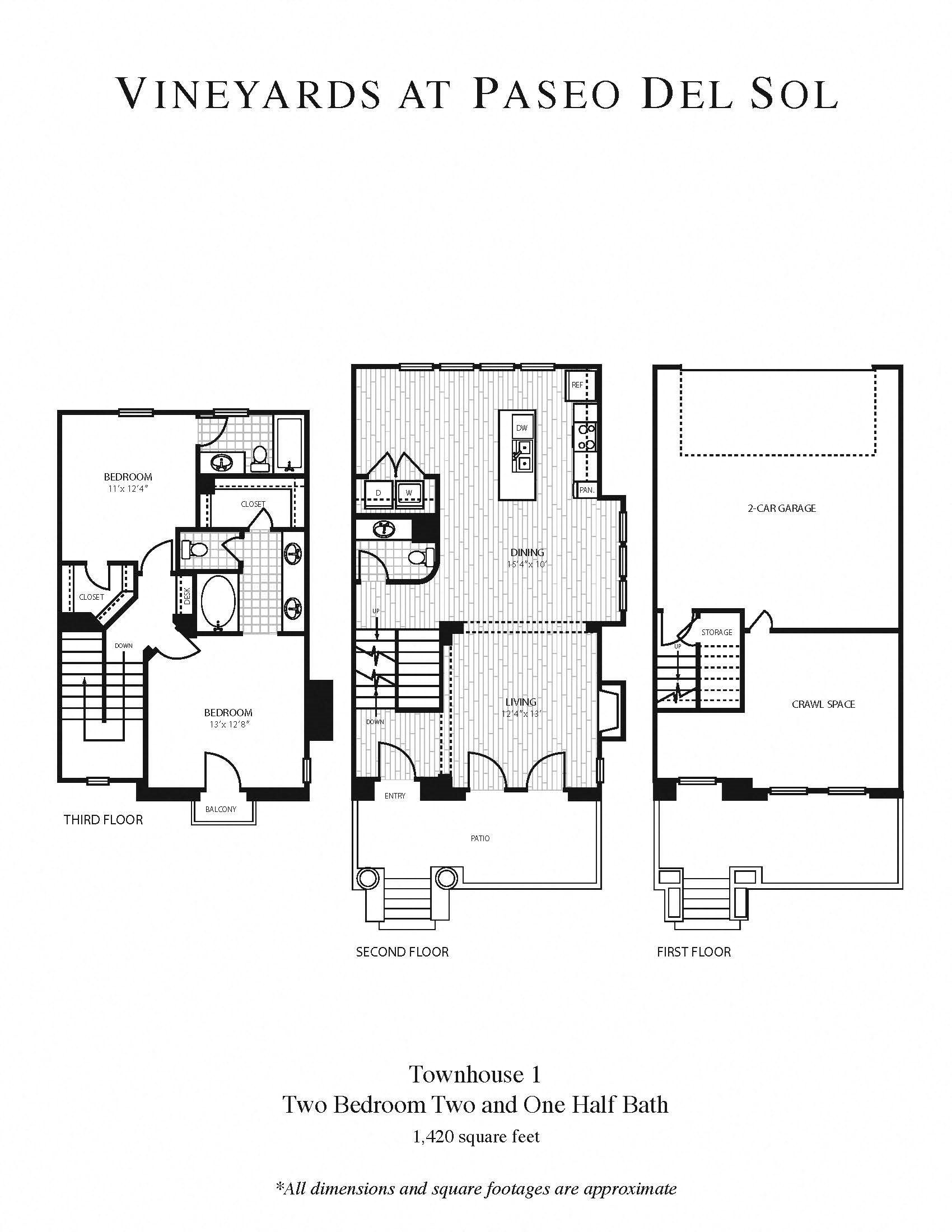 2b/2b - Townhouse Floor Plan 7