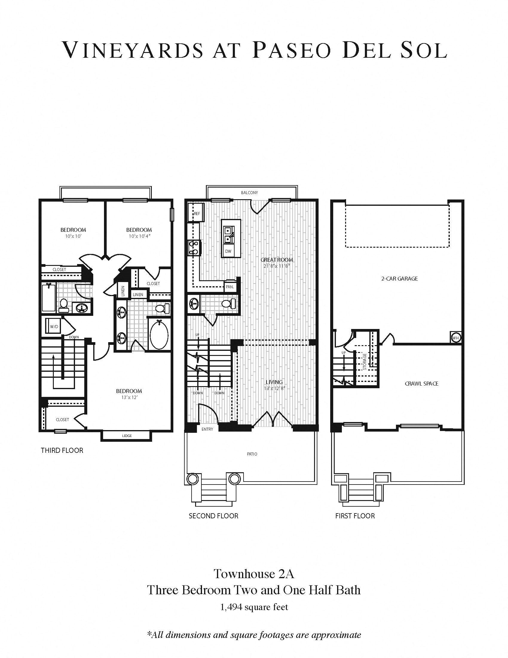 3b/2b - Townhouse Floor Plan 8