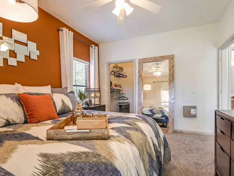 Bedroom with walk in closet