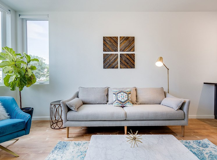 Living Room With Expansive Window at Watercooler, Boise, ID