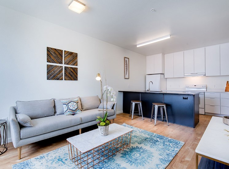 Living Room With Kitchen View at Watercooler, Boise, 83702