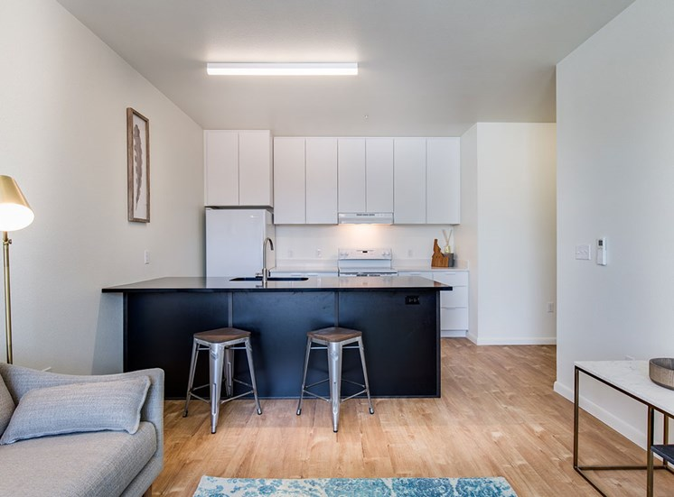 Fitted Kitchen With Island Dining at Watercooler, Boise, Idaho