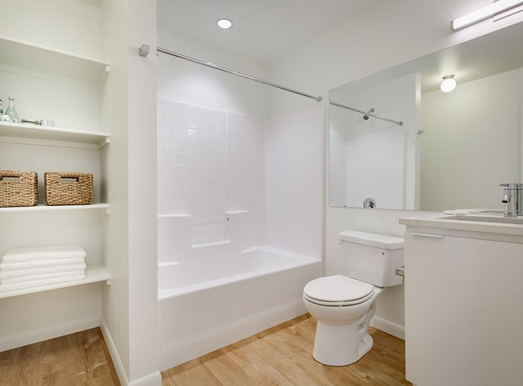 Large Soaking Tub In Master Bathroom With A Tile Surround at Watercooler, Idaho, 83702