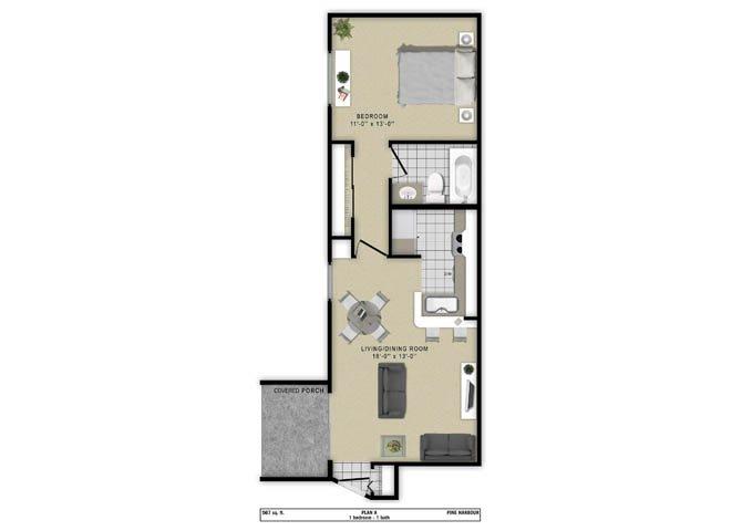 Plan A Floor Plan 1