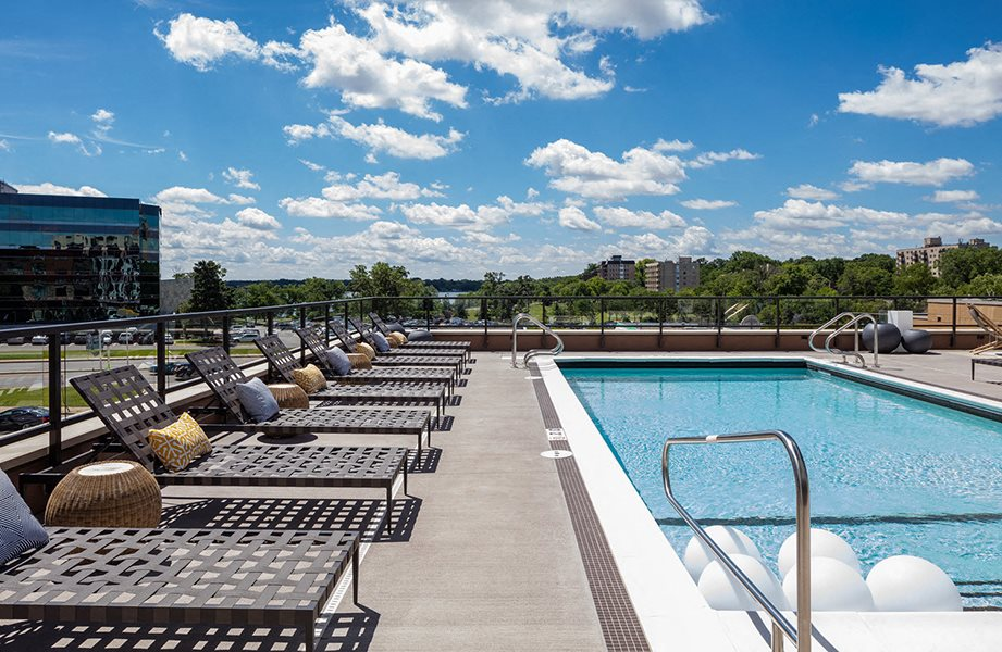 Foundry Lake Street Apartments Lifestyle - Pool Deck & Pool