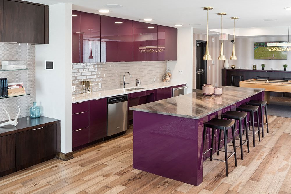 Entertaining Kitchen & Bar  - Foundry Lake Street Apartments Lifestyle