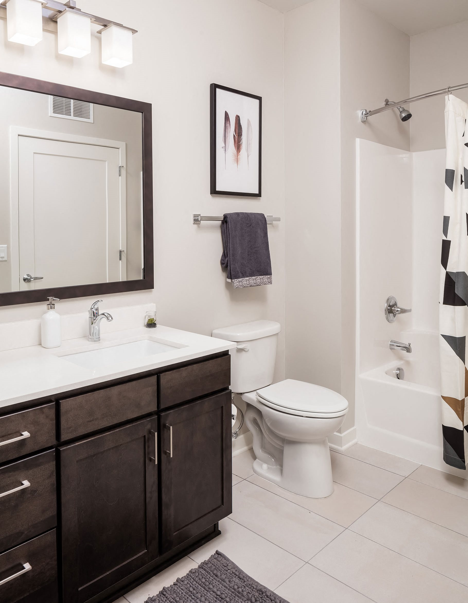 Furnished Apartment Bathroom Foundry Lake Street Apartments