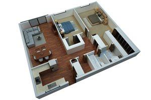 Two Bedroom/One Bathroom-Simply Modern
