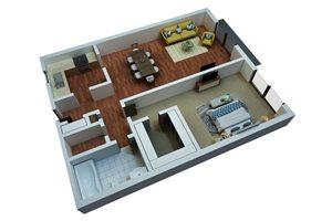 One Bedroom/One Bathroom-Simply Modern