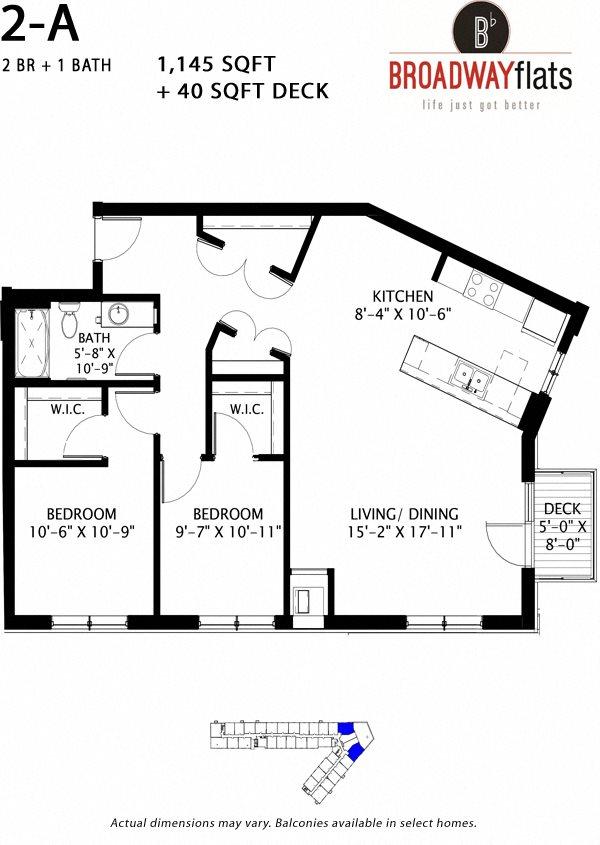 Two Bedroom A Floor Plan 9