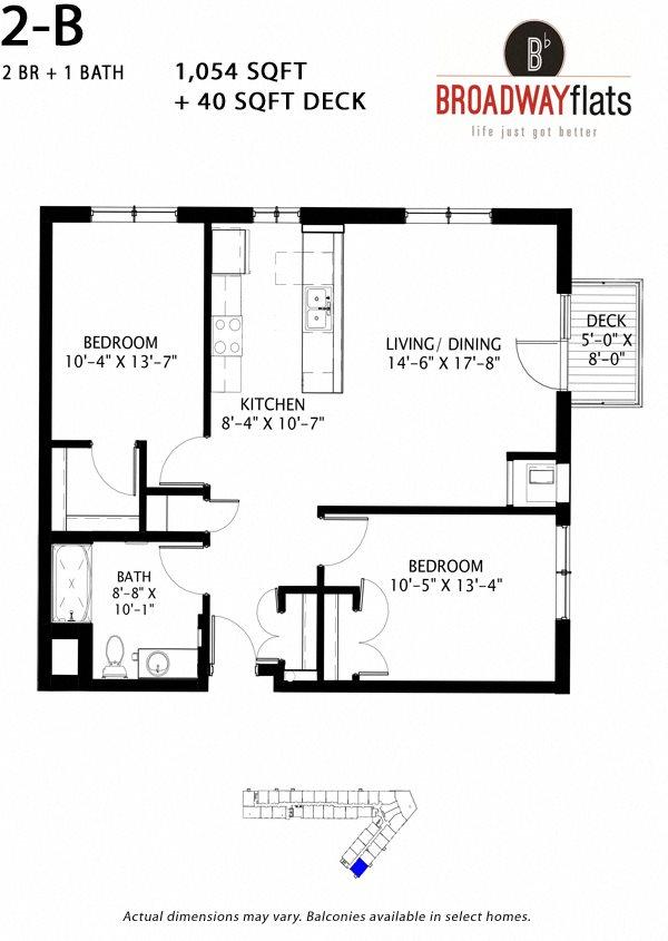 Two Bedroom B Floor Plan 10