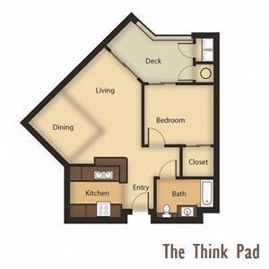 The Think Pad Floorplan - One Bedroom, One Bathroom