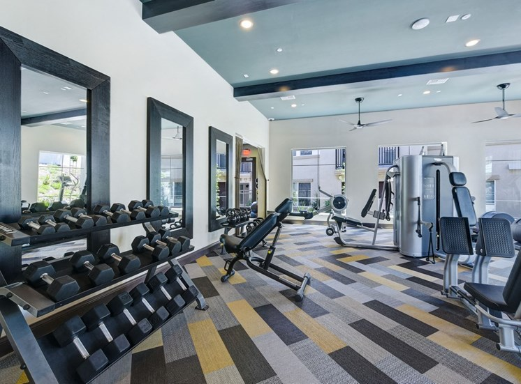 Fitness Center with State of the Art Precor Equipment, at SETA, La Mesa, California