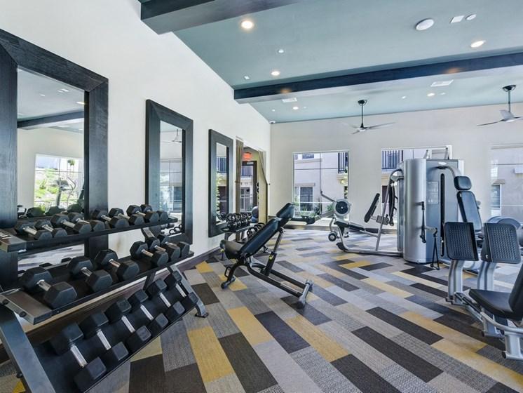 Fitness Center with State of the Art Precor Equipment, at SETA, La Mesa, California