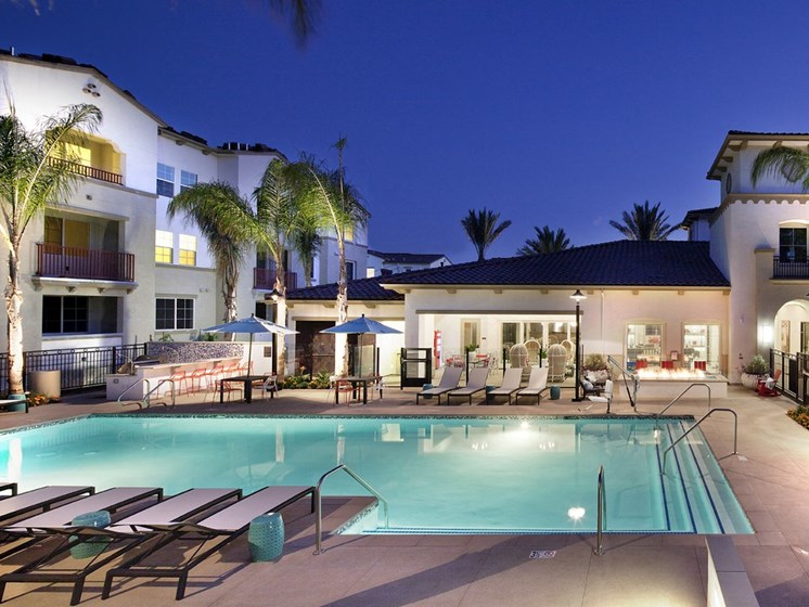 Poolside Dining and Grilling Area, at SETA, La Mesa, California