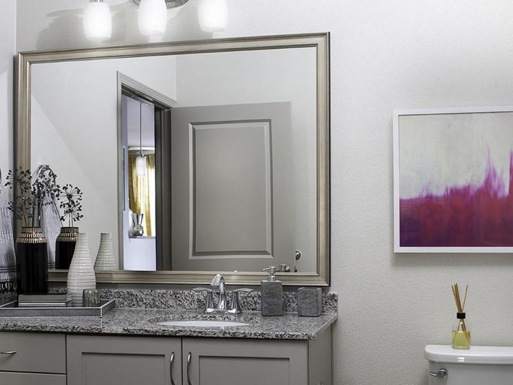 Custom Framed Bathroom Mirrors, at SETA, 7346 Parkway Dr, CA