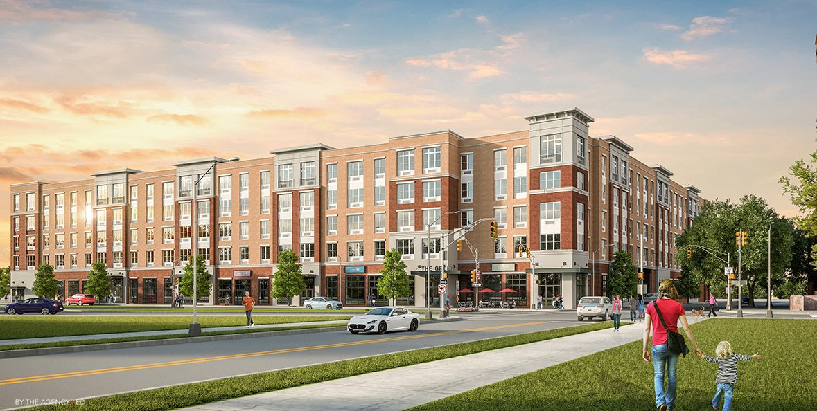 the green at bloomfield, bloomfield nj, rendering, luxury apartment community