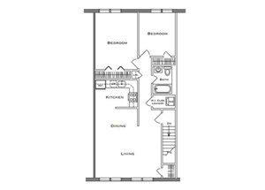 2 Bedroom 2nd Floor