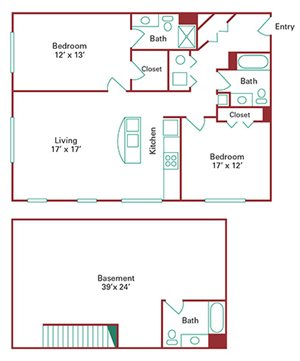 *New Construction* 2 Bedroom Townhome with Basement