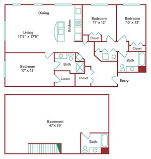 *New Construction* 3 Bedroom Townhome with Basement