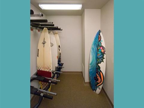 Resident Surfboard Storage