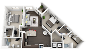 Accent Apartments - Plan B1