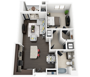 Accent Apartments - Plan B2M