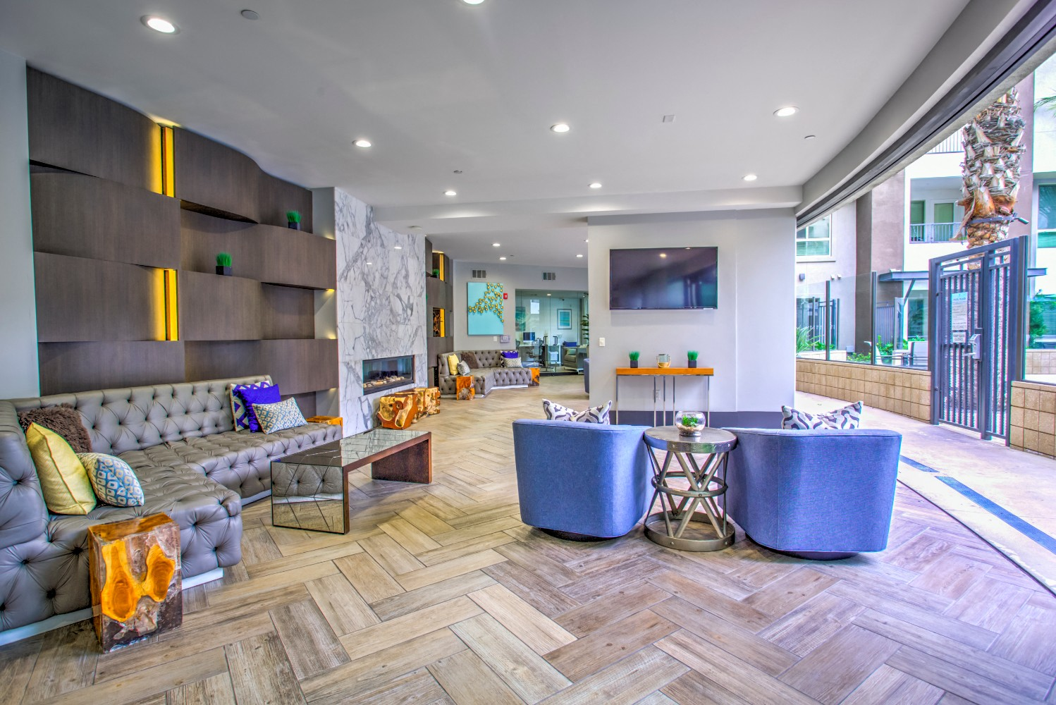 Clubhouse at Accent apartments, California, 90066