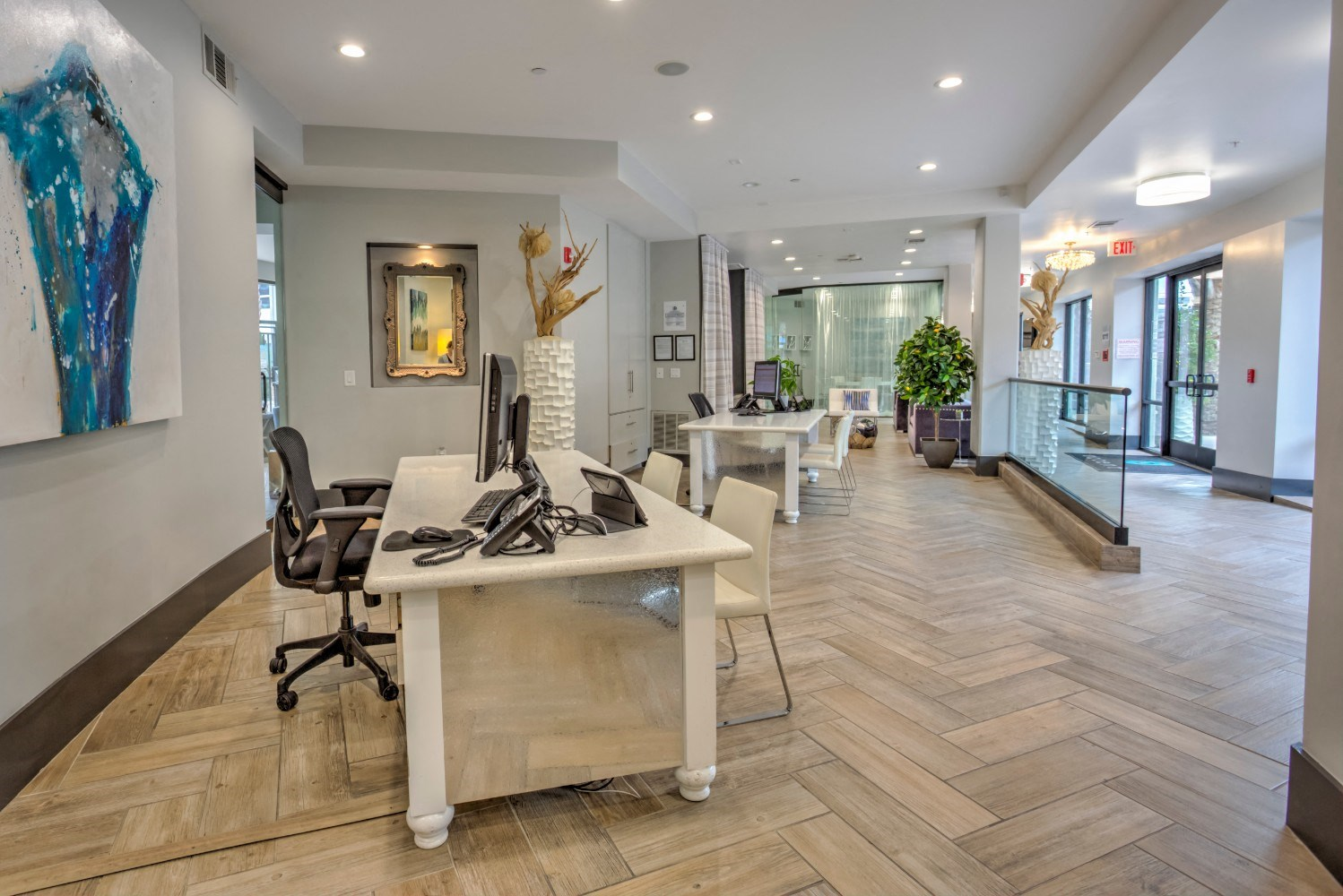 Leasing Office at Accent Apartments,  Los Angeles, CA
