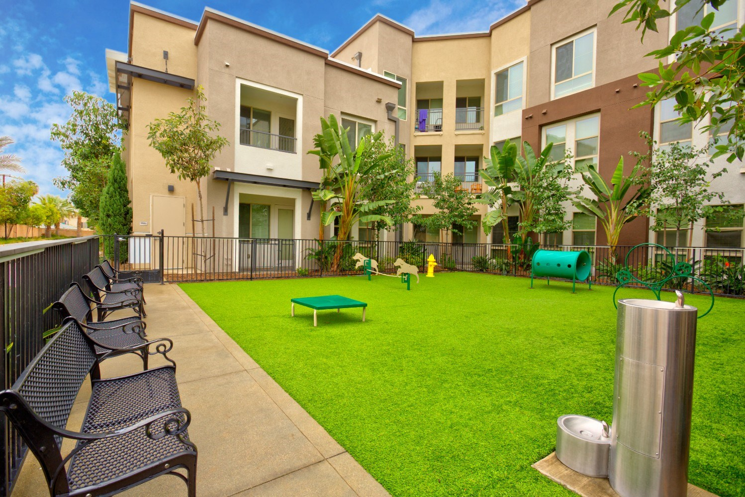 Dog park with dog wash at Accent Apartments, California, 90066