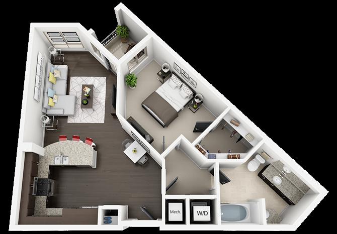 plan A1 Floor Plan 1
