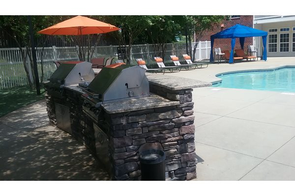BBQ Grill Pool Area