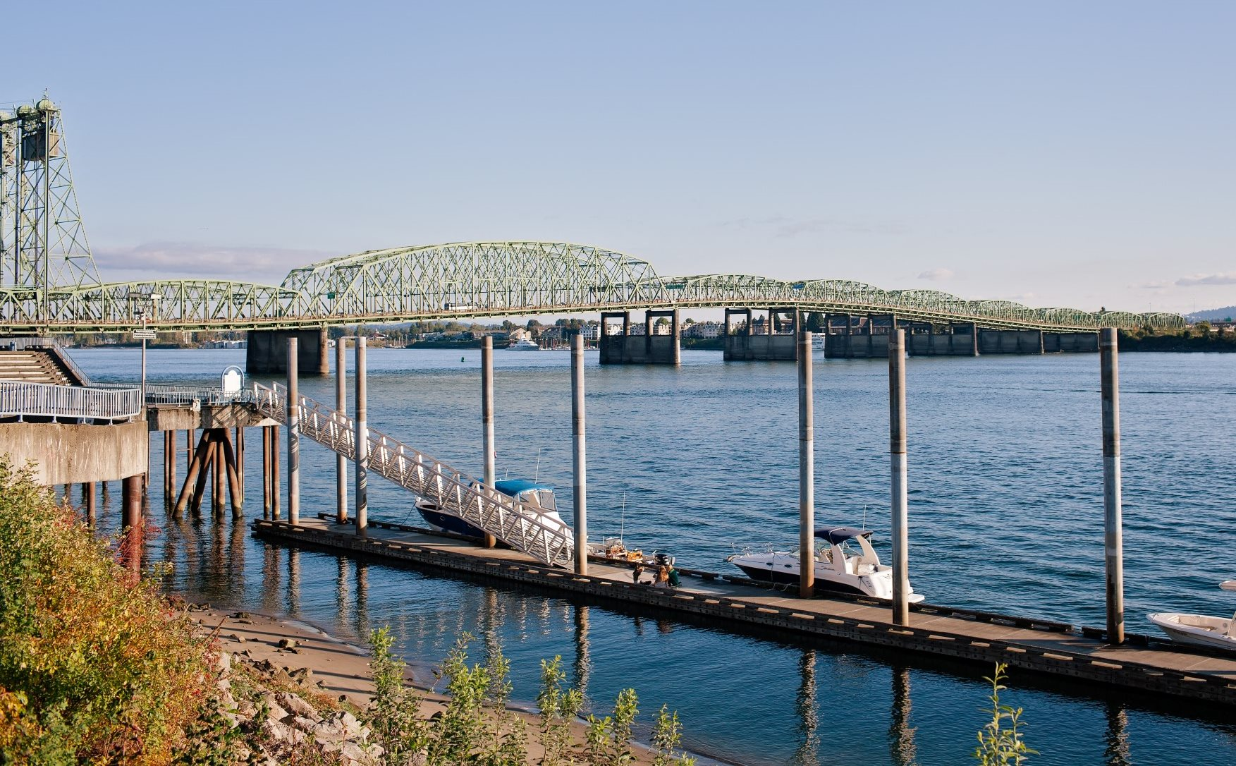 Vancouver, Washington Bridge and Boats on Water