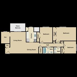 3 Bedroom 1.5 Bath + Den