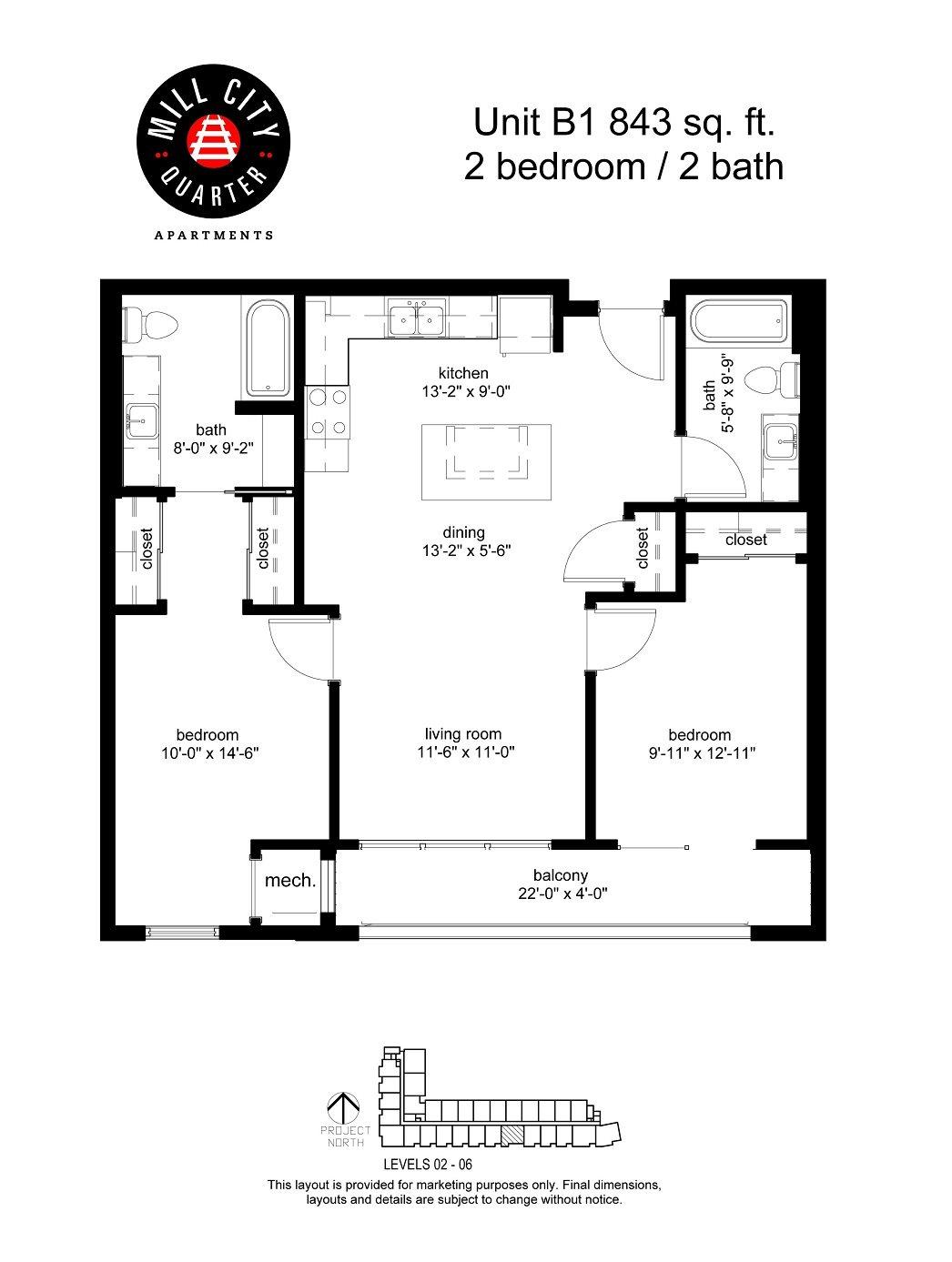 2x2 Floor Plan 5