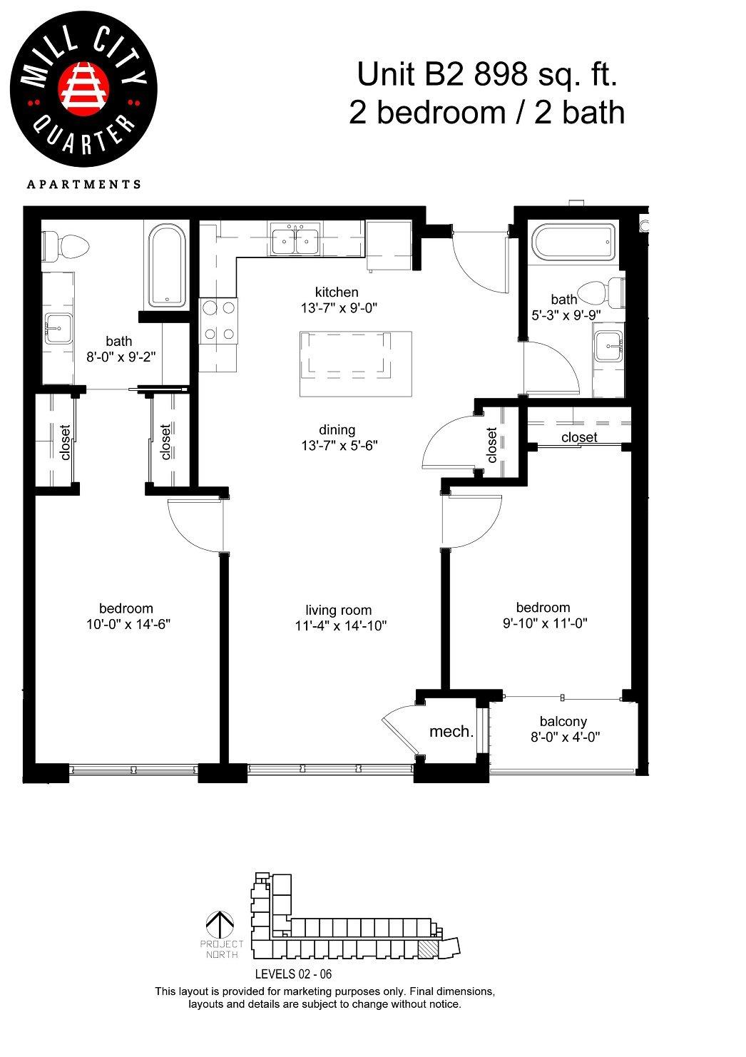 2x2 Floor Plan 6