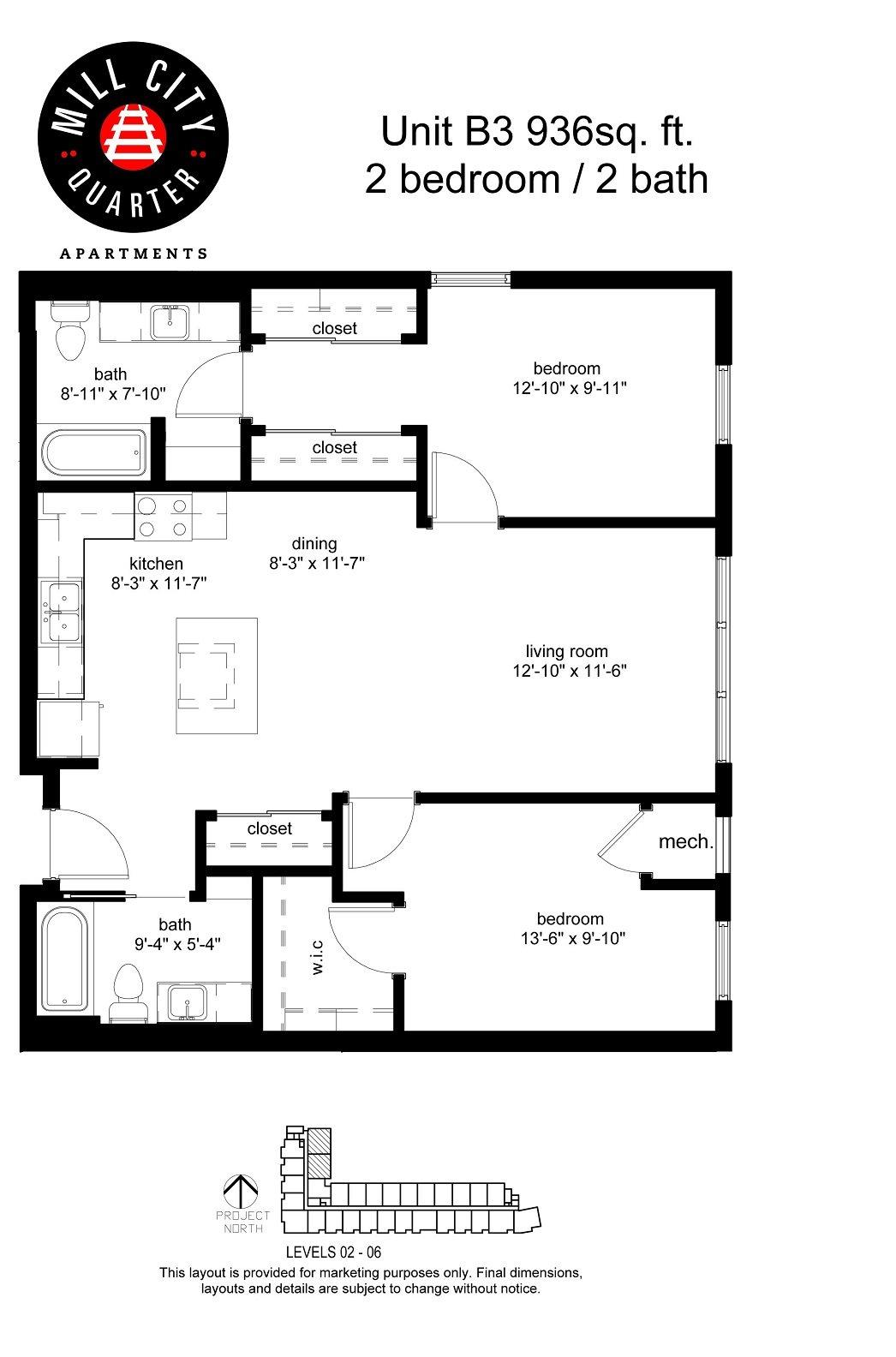 2x2 Floor Plan 9