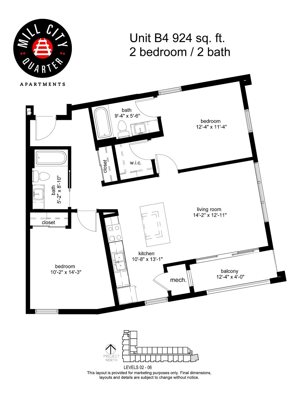 2x2 Floor Plan 7